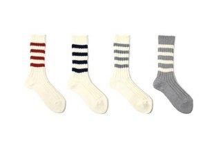 decka -quality socks- | Heavyweight Socks / Stripes | ソックス【デカ 靴下 シンプル かわいい ストライプ プレッピー】