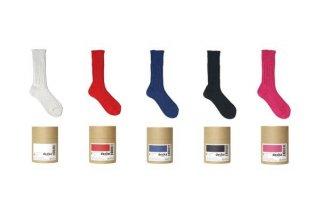 decka -quality socks- | Cased heavy weight plain socks -2nd collections- | ソックス【デカ 靴下 シンプル かわいい 無地】