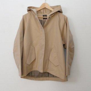 MB | シャンブレーツイルジャケット (beige) 【エムビー 無地 フーディ アウター ベージュ】