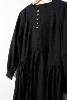 the last flower of the afternoon | 月明の panel dress (black) | ワンピース【オシャレ きれいめ シンプル】