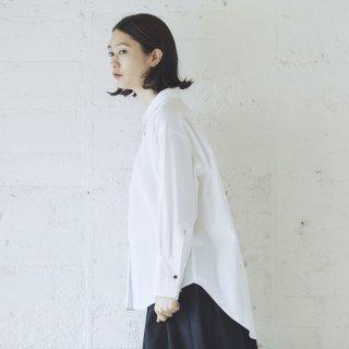 Cion | コットンフライシャツ (ホワイト) | トップス【送料無料 長袖 コットン シンプル】