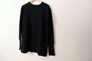 the last flower of the afternoon | knit long pullover (charcoal) | トップス