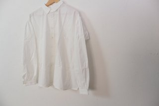 the last flower of the afternoon | 秋霧の classic shirt (offwhite) | トップス