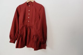 the last flower of the afternoon | 繊翳なる panel blouse (dark red) | トップス