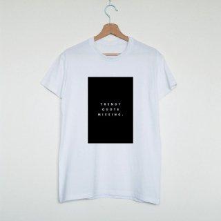 Vim Tees | Trendy quote missing T-shirt | Tシャツ (M/Lサイズ)【タイポグラフィ ミニマリスト】