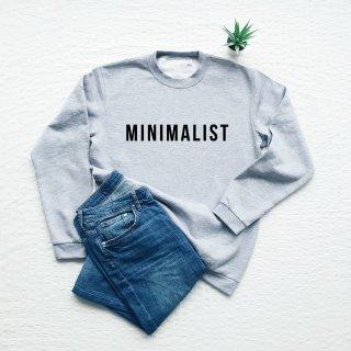 Vim Tees | Minimalist sweatshirt (heather gray) | スウェット (M/Lサイズ)【タイポグラフィ ミニマリスト 裏起毛】