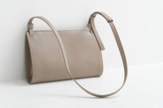 yuruku (ユルク) | Bifold Shoulder Bag (gray)  | バッグ【国産レザー シンプル かわいい ショルダーバッグ】