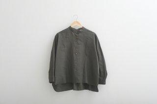 STAMP AND DIARY | スタンドカラービッグシャツ (khaki) | トップス