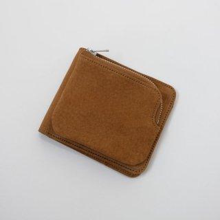 REN   スモーク・外ポケウォレット (camel)   レザー財布