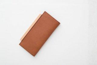 yuruku (ユルク) | Wood Plate Folder Long Wallet (brown)  | 財布 カウレザーウォレット【送料無料 シンプル 国産 】