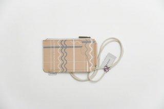 TRICOTE | ランダムラインレザースマホケース (l.gray) 【トリコテ リサイクルレザー iPhone 携帯ケース かわいい】