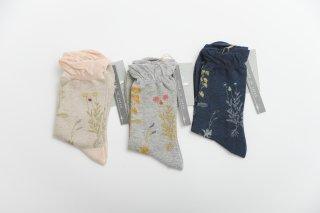 arome de muguet | lisa (beige/grey/navy) | ソックス【靴下 かわいい フラワー 花柄】