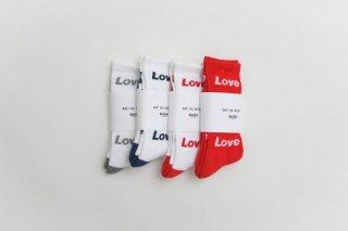 decka -quality socks- x BRU NA BOINNE | Pile Socks / Love & Peace | ソックス【デカ 靴下 シンプル かわいい】