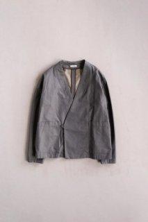hatsutoki | gabardine ユニセックスキモノジャケット (グレー) | アウター【ハツトキ ナチュラル 播州織】