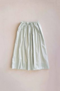hatsutoki | petal ギャザースカート (ミント) | スカート【ハツトキ ナチュラル 播州織】