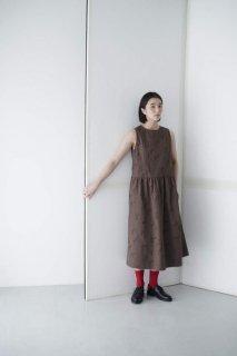 rikolekt | birds ノースリーブドレス (brown) | ワンピース【リコレクト オリジナルテキスタイル 北欧 ナチュラル】