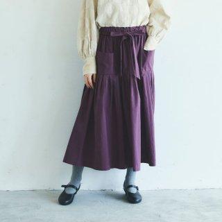 MAGALI | 天日干しコットン・ティアードスカート (grape) | ボトムス 送料無料 マガリ シンプル スカート