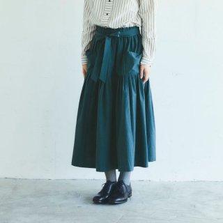 MAGALI | 天日干しコットン・ティアードスカート (moss) | ボトムス 送料無料 マガリ シンプル スカート
