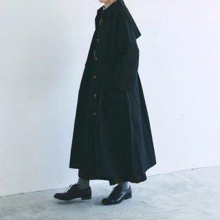MAGALI   コットンリネン・ウェザー・トレンチコート (black)   送料無料 アウター マガリ 人気