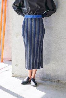 sneeuw (スニュウ) | ストライプニットスカート (black) one size | 送料無料 スカート ボトムス おしゃれ