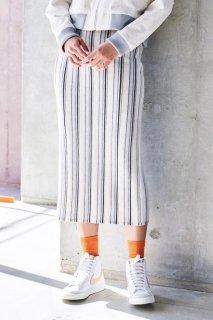 sneeuw (スニュウ) | ストライプニットスカート (beige) one size | スカート ボトムス おしゃれ
