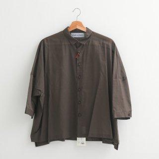 STAMP AND DIARY   ビッグブラウス 7分袖 (brown)   送料無料 シャツ スタンプアンドダイアリー 七分袖 レディース