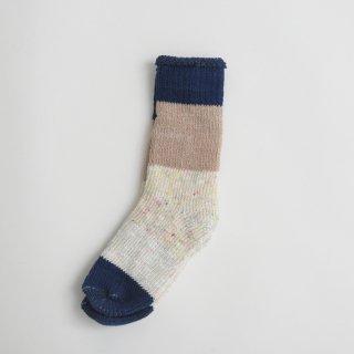 ASEEDONCLOUD | seasonal socks (navy) | ソックス 靴下 配色 アシードンクラウド おしゃれ