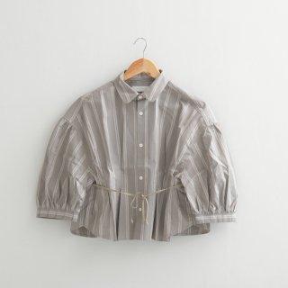 ASEEDONCLOUD | Hyouryushi smock blouse (grayish beige) | ブラウス シャツ グレーベージュ 送料無料 アシードンクラウド