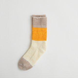 ASEEDONCLOUD | seasonal socks (pink beige) | ソックス 靴下 配色 アシードンクラウド おしゃれ