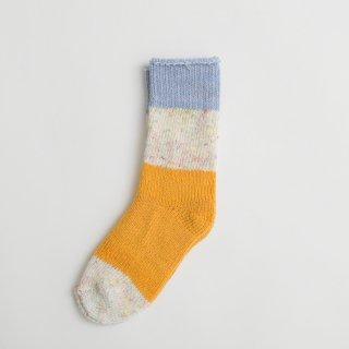 ASEEDONCLOUD | seasonal socks (blue) | ソックス 靴下 配色 アシードンクラウド おしゃれ