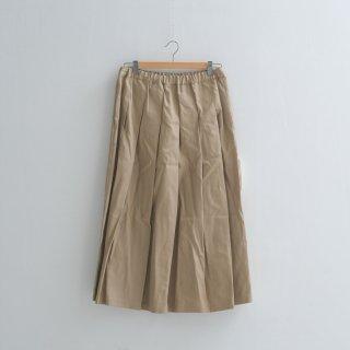 STAMP AND DIARY | タックプリーツスカート (light beige) | 送料無料 ボトムス スタンプアンドダイアリー レディース