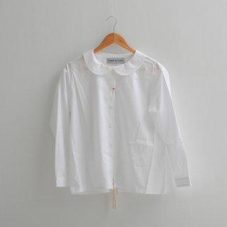 STAMP AND DIARY | フラットカラーブラウス (white) | 送料無料 白シャツ スタンプアンドダイアリー レディース