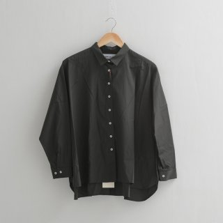 STAMP AND DIARY | ビッグシャツ (charcoal) | 送料無料 ブラウス チャコール スタンプアンドダイアリー レディース