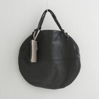 POMTATA (ポンタタ)   ENVAN TATE TOTE (black)   円形 トートバッグ たてトート 定番 人気 牛革 レザー