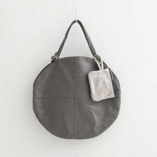 POMTATA (ポンタタ)   ENVAN TATE TOTE (charcoal)   円形 トートバッグ たてトート 定番 人気 牛革 レザー