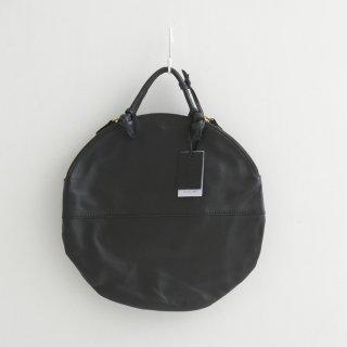 POMTATA (ポンタタ)   ENVAN TATE TOTE XS (black)   円形 トートバッグ たてトート 定番 人気 牛革 レザー