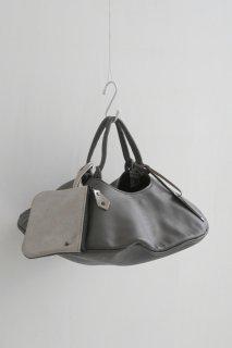 POMTATA (ポンタタ)   ENVAN TOTE S (charcoal)   円形 トートバッグ 定番 人気 牛革 レザー