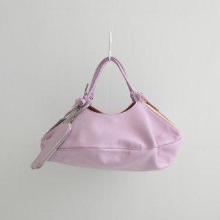 POMTATA (ポンタタ)   ENVAN TOTE S (m.pink)   円形 トートバッグ 定番 人気 牛革 レザー