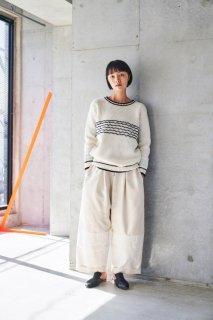 sneeuw (スニュウ) | 電線セーター (ivory) size1| 送料無料 トップス セーター