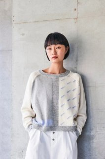 sneeuw (スニュウ) | 雨窓セーター (ivory) size1| 送料無料 トップス セーター