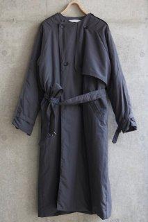 sneeuw (スニュウ) | パディングトレンチコート (charcoal gray) size1| 送料無料 アウター トレンチコート
