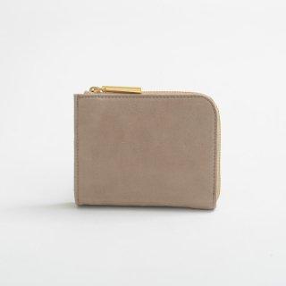 POMTATA (ポンタタ) | NUB L Zip Short Wallet (beige) | 財布 ショートウォレット国産 レザー