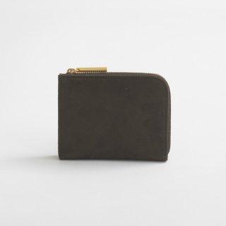 POMTATA (ポンタタ) | NUB L Zip Short Wallet (dark olive) | 財布 ショートウォレット国産 レザー