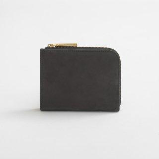 POMTATA (ポンタタ) | NUB L Zip Short Wallet (black) | 財布 ショートウォレット国産 レザー
