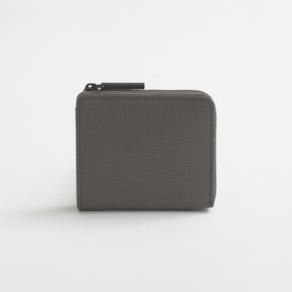 POMTATA (ポンタタ) | LIO L Zip Box Short Wallet (charcoal) | 財布 ショートウォレット 国産 レザー