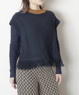 TRICOTE | CABLE VEST (charcoal) | 送料無料 トップス ベスト トリコテ