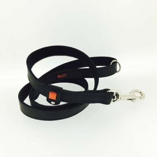 小型犬用ブラック×オレンジストライプリード
