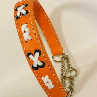 中型犬用手縫いパステルオレンジカラー
