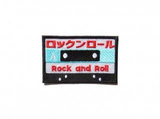 カセットテープワッペン(ロックンロール)