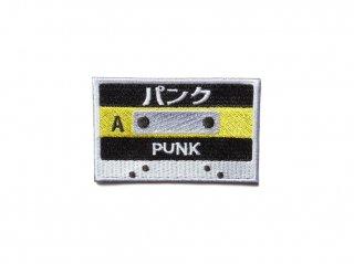 カセットテープワッペン(パンク黄)